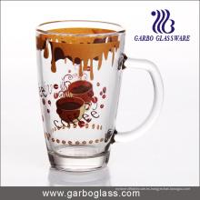 Taza / taza de cristal de la etiqueta, Taza / taza del vidrio impreso, Taza de cristal de la impresión (GB094212-QT-103)