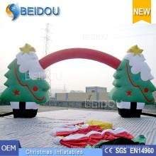Оптовые рождественские украшения Украшения деревьев Реклама Надувная Рождественская арка