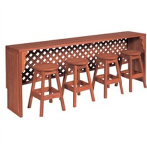 PS plastic wood Bar stool