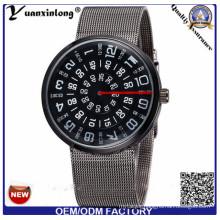 Yxl-355 New Brand Watch Paidu Fashion Alloy Mesh Belt Strap Mens Wristwatch Multifunction Quartz Watches