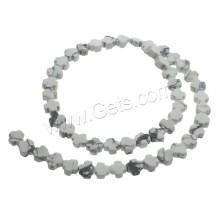 2015 Gets.com perle croisée howlite, perles turquoise blanches, perles croisées en pierres précieuses