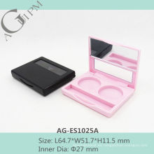 Simple Rectangular dos colores de sombra de ojos caja con espejo AG-ES1025A, empaquetado cosmético de AGPM, colores/insignia de encargo