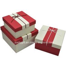 Caja de regalo de papel con textura texturizada de calidad / pop up Caja de embalaje de regalo cuadrado de papel cuadrado