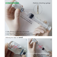 Disposable Syringes with Plastic Needle for Medicine Dissolving