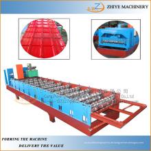 Metalldach galvanisierte Aluminium-Stahlblechherstellung Maschine / Dachprofil Kaltumformmaschine