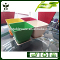 decorative flower pots with tray