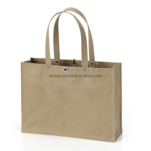 Fastion Style Canvas Cotton Single Color Customize Tote Bag Shopping Bags with Logos