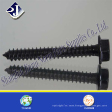 carbon steel hex washer flange head self tapping screw