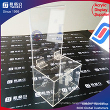 Superior Clear Donation Box Charity with Lock Key