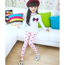 OEM 2015 Good Quality Breathable Mustache Printed Children Leggings