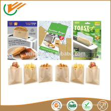 PTFE Fiberglass toast bag Reusable PTFE toaster bag easy sandwich