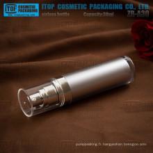 Flacon pompe airless de ZB-A30 30ml haut de gamme double paroi épaisse cosmétiques acrylique