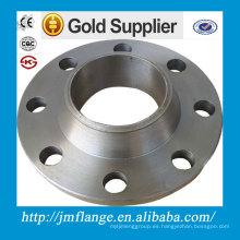 ASTM 304 316 150 # 300 # 600 # Brida de acero inoxidable de cara WNRF