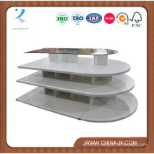 Wooden Display Table with Glass Top