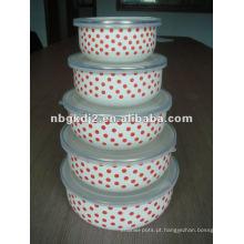 boa promoção esmalte mistura conjuntos com tampa de plástico