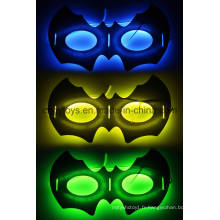 Nouveau Masque Glow de Forme Bat pour Halloween