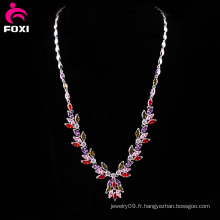 Collier fantaisie Fashion Gemstone pour la fête