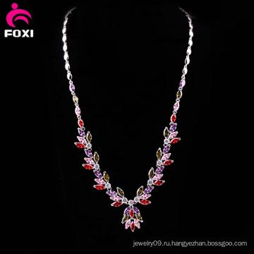 Необычные дизайн мода драгоценный камень ожерелье для партии