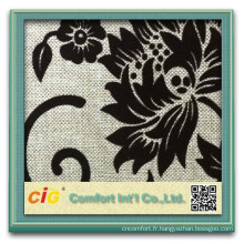 tissu de canapé feuilles design