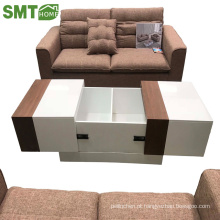 Mesa de café moderna elegante personalidade de madeira