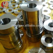 anillo personalizado de titanio en blanco de moda de 22 gramos para incrustaciones