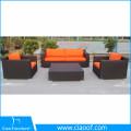Hot Sell New Design Cheap Corner Rattan Sofa Furniture Black Rattan Sofa