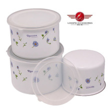 Iron Enamel Storage Box with PP Lid and Beautiful Decal
