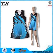 China Großhandel Custom Sublimation Netball Netball Kleid