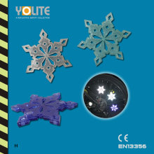Reflective Snowflake Bicycle Wheel Clip, Bicycle Wheel Spoke Decoration Reflector, Reflective Mount Clip