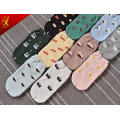 Teen Girl Cartoon Patterned Ankle Socks Cotton Compression Scoks