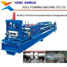 C80-300 c forma feixe de aço c seção purline laminados a frio dá forma à máquina