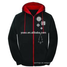 2016 Weihnachtsverkauf Reißverschluss Sweatshirt Hoodie