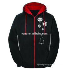 2016 christmas sale zipper up sweatshirt hoodie