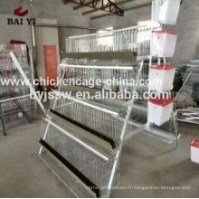 Cage automatique de volaille de traitement automatique des aliments pour les fermes de volaille