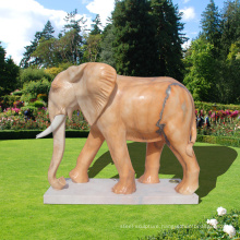 life size marble stone elephant garden statues for sale