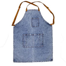 avental feito sob encomenda do projeto do denim do logotipo Usado na indústria ou grelhar