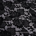 Black stretch nylon spandex knit lace fabric 150CM
