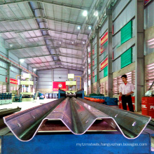 Two wave fence steel board guard rail motorway production equipment w beam profile highway guardrail roll forming line