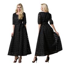 Premium-Qualität Polyester Frauen muslimischen islamischen casual dress abaya