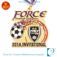 Medalla de la Copa Invitacional de fútbol o fútbol con producto Intech de la etiqueta engomada a todo color