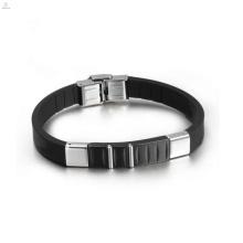 2018 316L bijoux en acier inoxydable, en gros Mens Bracelet en cuir