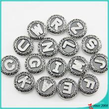 Nova carta de chegada botões de pressão para pulseira de couro jóias