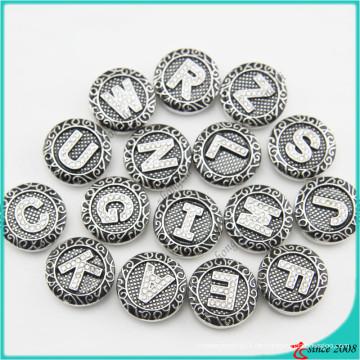 Neue Ankunfts-Buchstaben-Druckknöpfe für Lederarmband-Schmucksachen