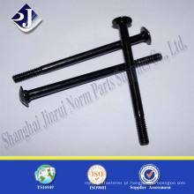 Fornecedor de alibaba online parafusos de carcaça de aço carbono de zinco preto