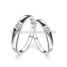 Wedding Jewelry fashion rings 925 sterling sliver ring cz diamond couple ring
