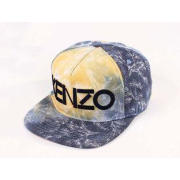 Allover Cotton KENZO Flat Brim Baseball Hats With 3D Embroi