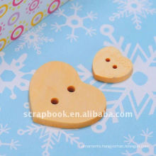 heart shape wooden decorative buttons for diy