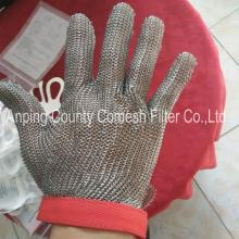 Stainless steel butcher safety gloves