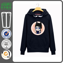 2016 черный флир печати дешево Пуловер женщин Hoodie