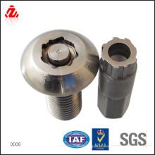 Parafuso de segurança de aço inoxidável